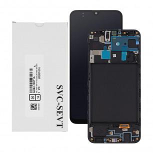 Дисплей Samsung A205 Galaxy A20 2019, GH82-19571A, с тачскрином, рамкой, Service Pack Original