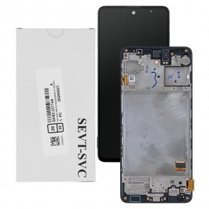 Дисплей Samsung M317 Galaxy M31s, GH81-13736A, с тачскрином, рамкой, Service Pack Original, Black