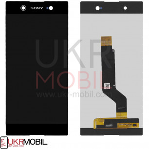 Дисплей Sony G3212 Xperia XA1 Ultra Dual, G3221 Xperia XA1 Ultra, G3223 Xperia XA1 Ultra, G3226 Xperia XA1 Ultra Dual, с тачскрином, Original, Black