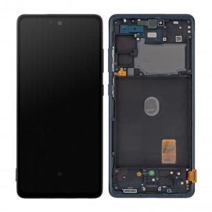 Дисплей Samsung G780 Galaxy S20 FE, с тачскрином, рамкой, Original, Blue