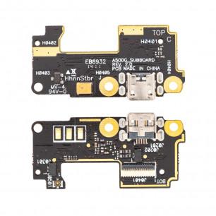 Шлейф Asus Zenfone 5 A500CG плата с коннектором зарядки, микрофоном, High Copy