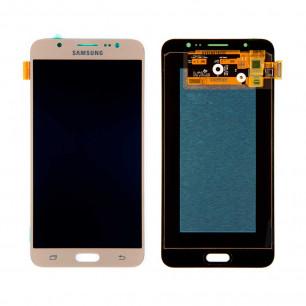 Дисплей Samsung J710F Galaxy J7 2016, J710H Galaxy J7 2016, с тачскрином, OLED, Gold