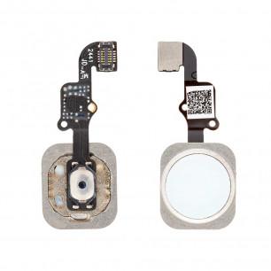Шлейф Apple iPhone 6 Plus, кнопка Home, White