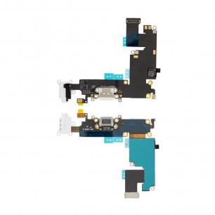 Шлейф Apple iPhone 6 Plus, коннектор зарядки, разъем гарнитуры, с микрофоном, Original PRC, White