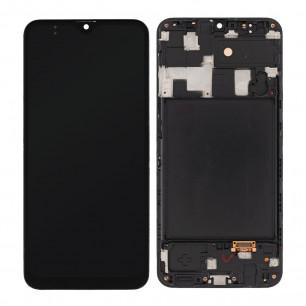 Дисплей Samsung A205 Galaxy A20 2019, с тачскрином, рамкой, OLED, Black