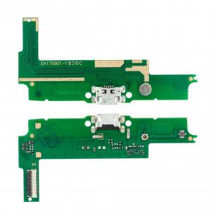 Шлейф Huawei Y3 II 4G (LUA-L21), нижняя плата с разъемом зарядки, микрофоном