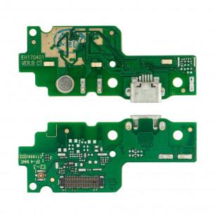 Шлейф Huawei Y6-2 (CAM-L21), с разъемом зарядки, микрофоном
