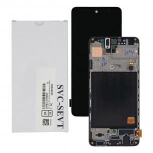 Дисплей Samsung A515 Galaxy A51, GH82-21669A, с тачскрином, с рамкой, Service Pack Original, Black