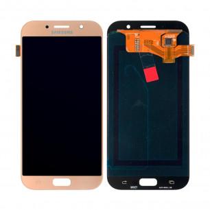 Дисплей Samsung A720 Galaxy A7 2017, с тачскрином, OLED, Gold