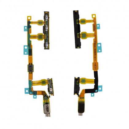 Шлейф Sony D5803 Xperia Z3 Compact | D5833 Xperia Z3 Compact кнопка включения, регулировки громкости, с вибро, Original PRC - ukr-mobil.com