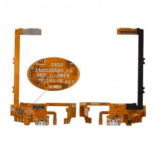 Шлейф LG D820 Nexus 5 с коннектором зарядки, микрофоном, High Copy