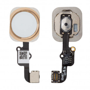 Шлейф Apple iPhone 6S, кнопка Home, Gold