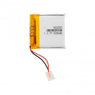 Аккумулятор 6.0*29*30 мм, (600 mAh)