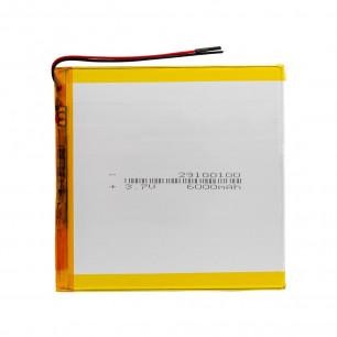 Аккумулятор для планшета 2.9*100*100 мм, (6000 mAh)