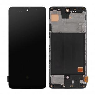 Дисплей Samsung A515 Galaxy A51, с тачскрином, с рамкой, OLED, Black