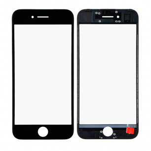 Стекло дисплея с рамкой и пленкой OCA Apple iPhone 7, Original, Black