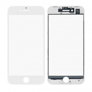Стекло дисплея с рамкой и пленкой OCA Apple iPhone 8, Original, White