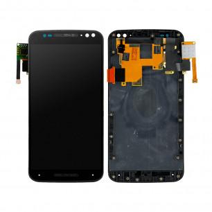 Дисплей Motorola XT1570, XT1572, XT1575 Moto X Style, с тачскрином, рамкой, Black