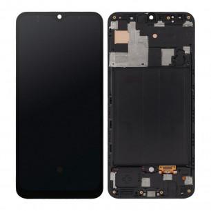 Дисплей Samsung A505 Galaxy A50 2019, с тачскрином, рамкой, OLED, Black