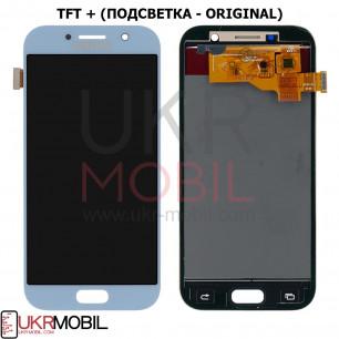 Дисплей Samsung A520 Galaxy A5 2017, с тачскрином, TFT (с регулируемой подсветкой), Blue