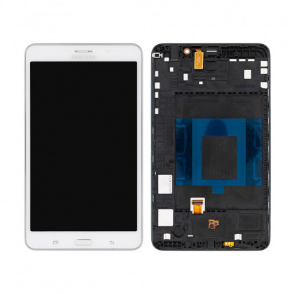 Дисплей Samsung T231 Galaxy Tab 4 7.0 (WI-FI + 3G) с тачскрином и рамкой (white) - ukr-mobil.com
