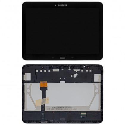 Дисплей Samsung T530, T531 Galaxy Tab 4 10.1 с тачскрином и рамкой, Black - ukr-mobil.com