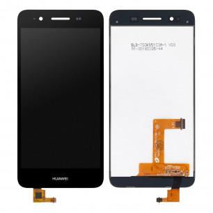 Дисплей Huawei GR3 2015, P8 Lite Smart (TAG-L01), Enjoy 5s, с тачскрином, Original PRC, Black