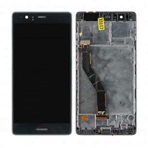 Дисплей Huawei P9 Plus (VIE-L09, VIE-L29), с рамкой, с тачскрином, Original, Black