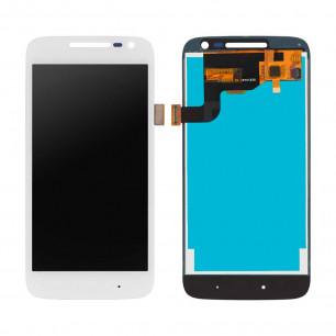 Дисплей Motorola XT1600, XT1601, XT1602, XT1603, XT1607, XT1609 Moto G4 Play, с тачскрином, Original, White