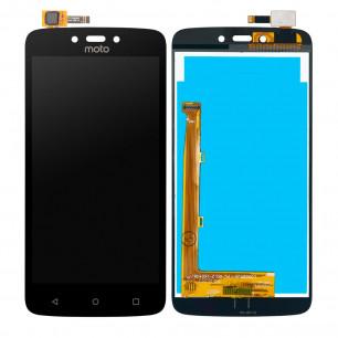 Дисплей Motorola XT1723 Moto C Plus, с тачскрином, Black