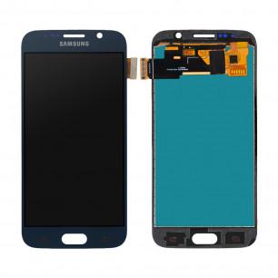 Дисплей Samsung G920 Galaxy S6, с тачскрином, INCELL, Blue