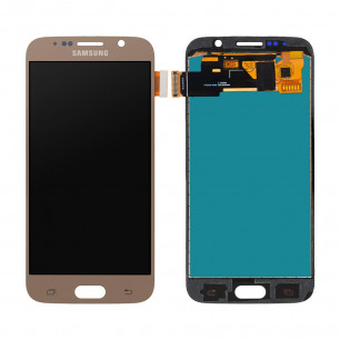 Дисплей Samsung G920 Galaxy S6, с тачскрином, INCELL, Gold
