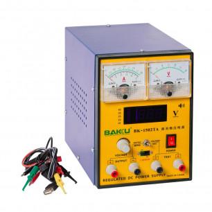 Блок питания Baku 1502TA (2A, 0V-15V, цифровая и аналоговая индикация)