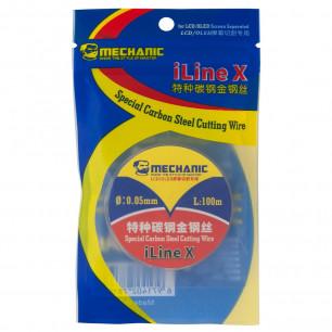 Проволка для отделения стекла от дисплея Mechanic iLine X, D=0,05 mm, L=100 m, (карбоновая)