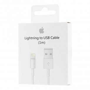 Кабель Apple Lightning to USB для iPhone, iPad, 1m, MD818ZM/A, Original PRC