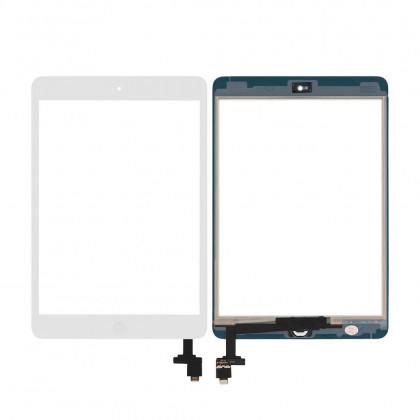 Сенсор (тачскрин) Apple iPad mini, (A1432, A1454, A1455), iPad Mini 2 Retina (A1489, A1490, A1491), с кнопкой Home, High Copy, White, фото № 1 - ukr-mobil.com