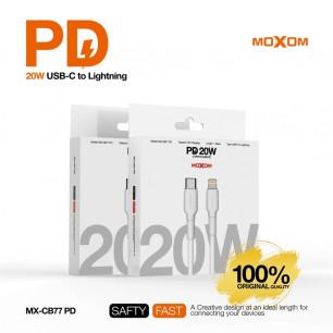 Кабель Moxom MX-CB77, Power Delivery 3.0 - 20W, 1m, USB-C to Lightning
