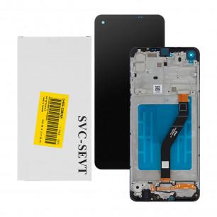 Дисплей Samsung A215 Galaxy A21 2020, GH82-22836A, с тачскрином, рамкой, Service Pack Original, Black