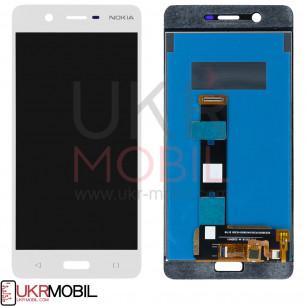 Дисплей Nokia 5 Dual Sim TA-1024, TA-1053, с тачскрином, High Copy, White