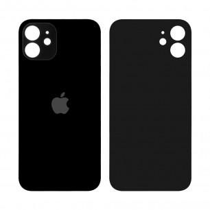 Задняя крышка Apple iPhone 12, большой вырез под камеру, Black