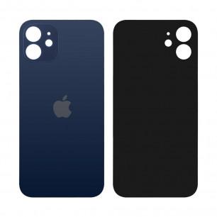Задняя крышка Apple iPhone 12, большой вырез под камеру, Blue