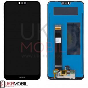 Дисплей Nokia 7.1 TA-1100, TA-1085, TA-1095, TA-1096, TA-1097, с тачскрином, Original PRC, Black