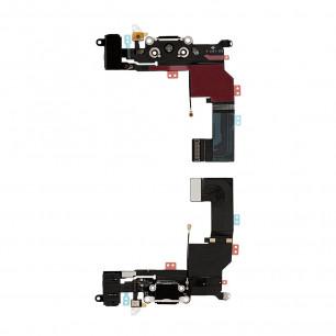 Шлейф Apple iPhone 5S, с разъемом зарядки, гарнитуры, Original PRC, Black