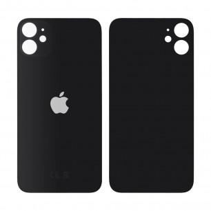 Задняя крышка Apple iPhone 11, большой вырез под камеру, Black