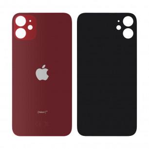 Задняя крышка Apple iPhone 11, большой вырез под камеру, Red