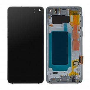 Дисплей Samsung G973 Galaxy S10, с тачскрином, с рамкой, Original PRC, Silver
