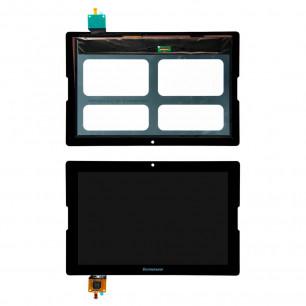 Дисплей Lenovo IdeaTab A7600, A10-70 с тачскрином, рамкой, Black