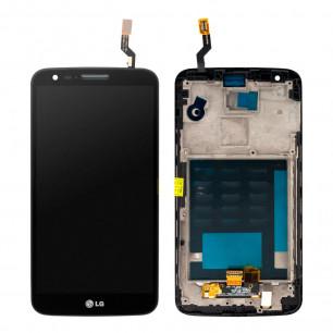 Дисплей LG D802 Optimus G2 с тачскрином, рамкой, Black