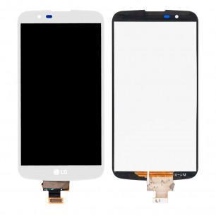 Дисплей LG K10 K410, K10 K420N, K10 K430DS, K10 K430DSF, K10 K430DSY, без микросхемы, с тачскрином, White