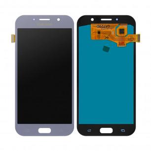 Дисплей Samsung A720 Galaxy A7 2017, с тачскрином, OLED, Blue